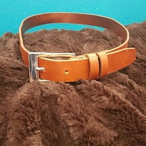 Banana Republic leather and silver belt small